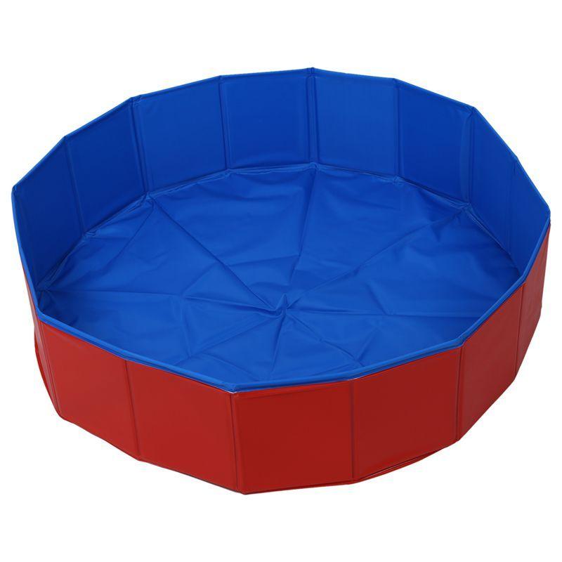 Pliable Pet chien natation maison lit été piscine bleu + rouge