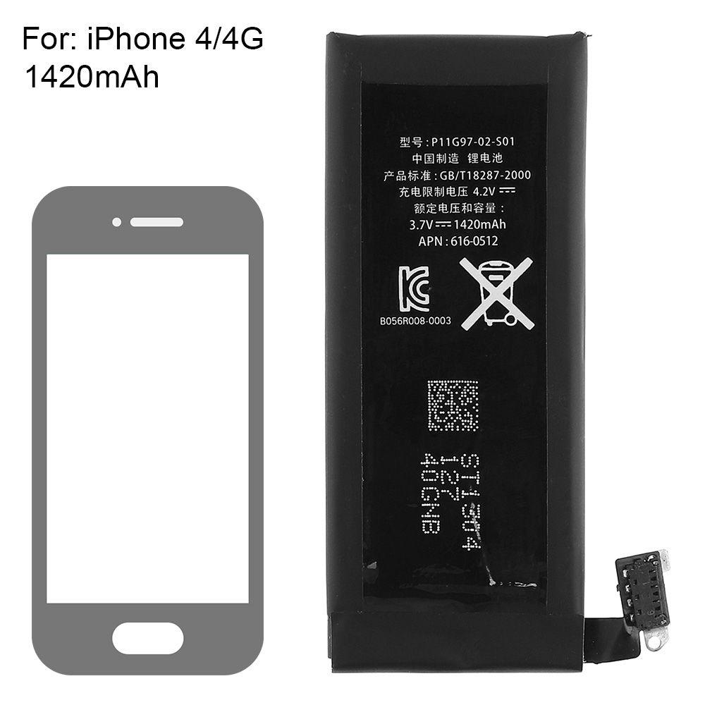 Véritable Remplacement Au Lithium Polymère Batterie 3.7 V 1420 mAh pour Apple iPhone 4 4G + Outils Kit Batterie Batterij Bateria