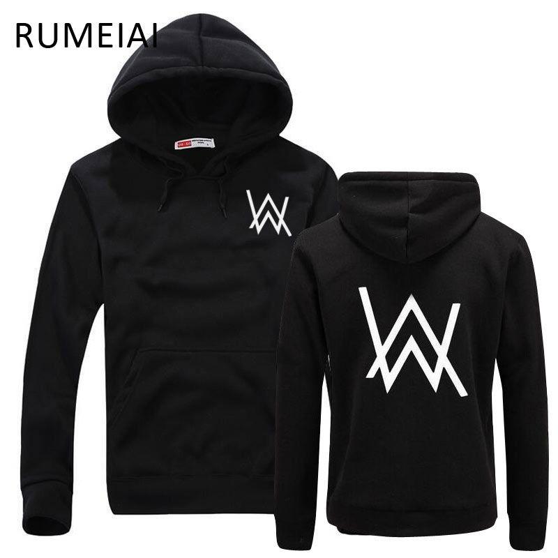 RUMEIAI Fashion Men Sweatshirts <font><b>Music</b></font> DJ Divine Comedy Alan Walker Faded Coat Hoodies Sweatshirts Men Pullovers Brand clothing
