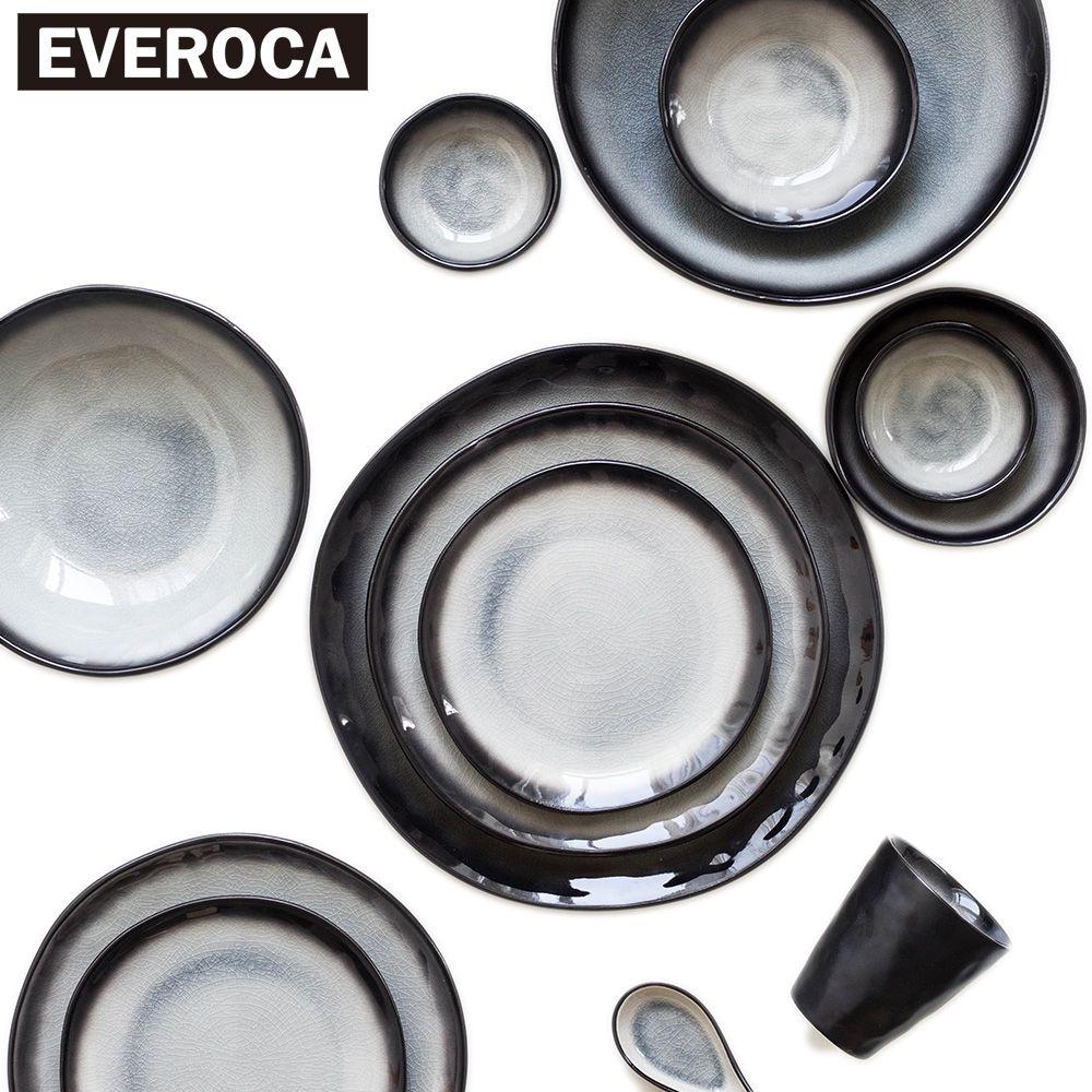Японском стиле керамическая посуда из фарфора посуда чаша пластина чашка блюдо черный в полоску рисовый суп суши