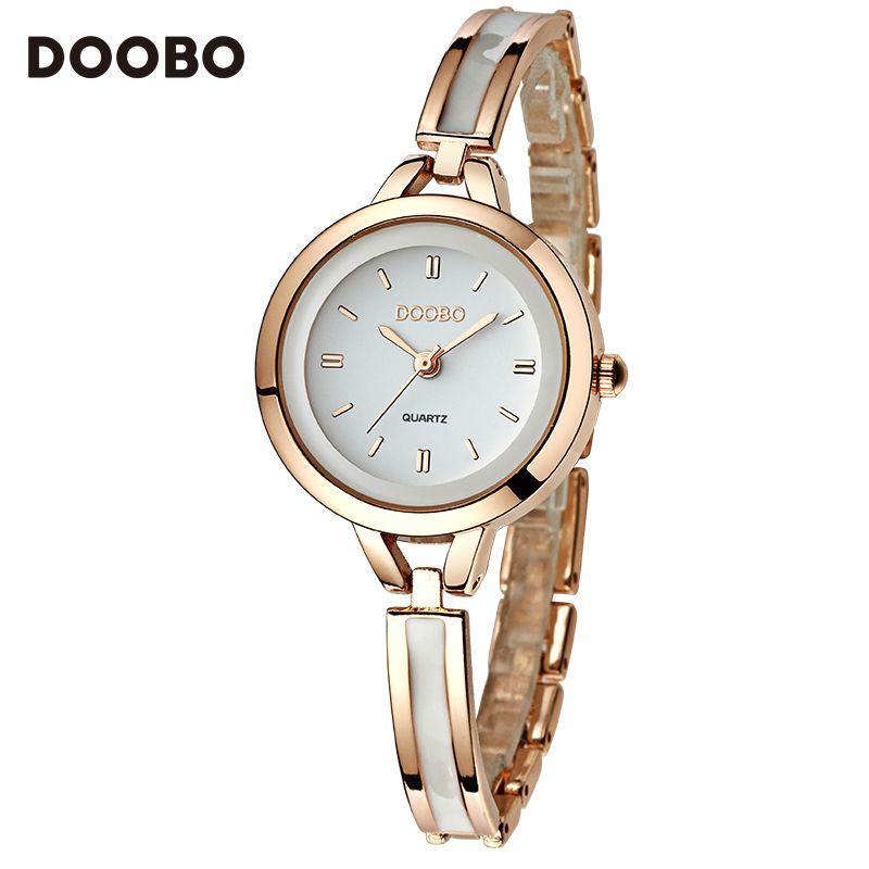 Reloj de las mujeres doobo marca de moda de lujo unique stylish skeleton relojes deporte de señora girl pulsera de cuarzo ocasional