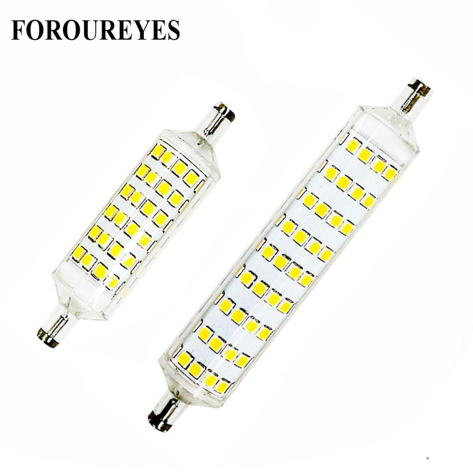 Супер яркий R7S светодиодные лампы 220 В 10 Вт 15 Вт 118 мм 78 мм привело sportlight 360 градусов лампады SMD2835 лампа заменить 60 Вт 80 Вт галогенной лампы