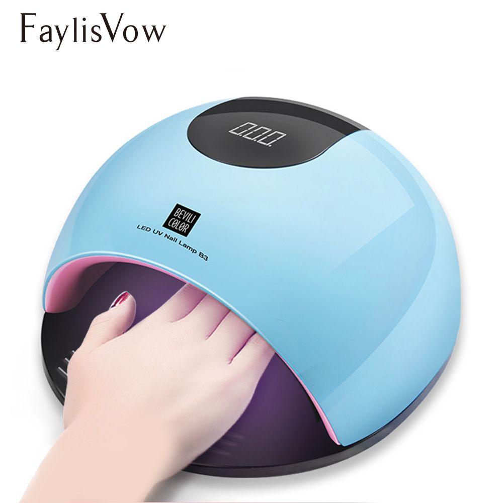 80W UV Led Lamp Nail Dryer for Manicure SUN Light Lamp for Nails Curing All Gel Polish Sensor Machine Nail Art LED Dryer Tools