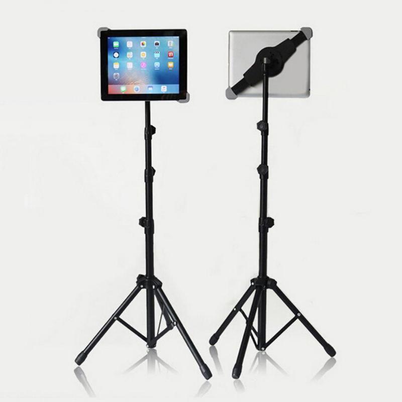 Universal Adjustable Tripod Floor Stand Tablet Holder Mount Tablet Support Bracket for 7-14 inch Tablets