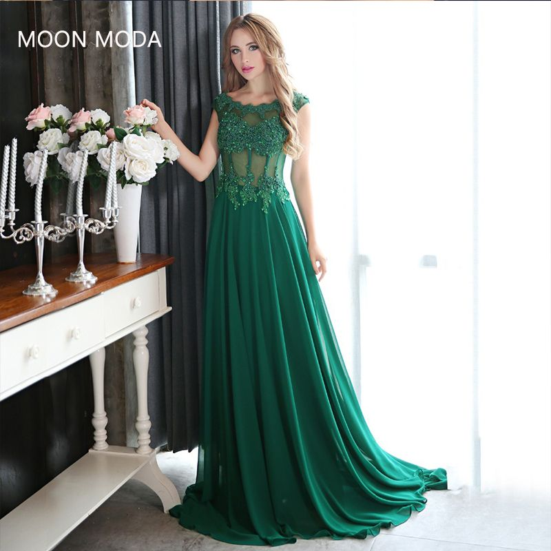 evening dresses with crystals long prom dresses 2018 party gown robe de soiree vestidos de fiesta largos elegantes fast shipping