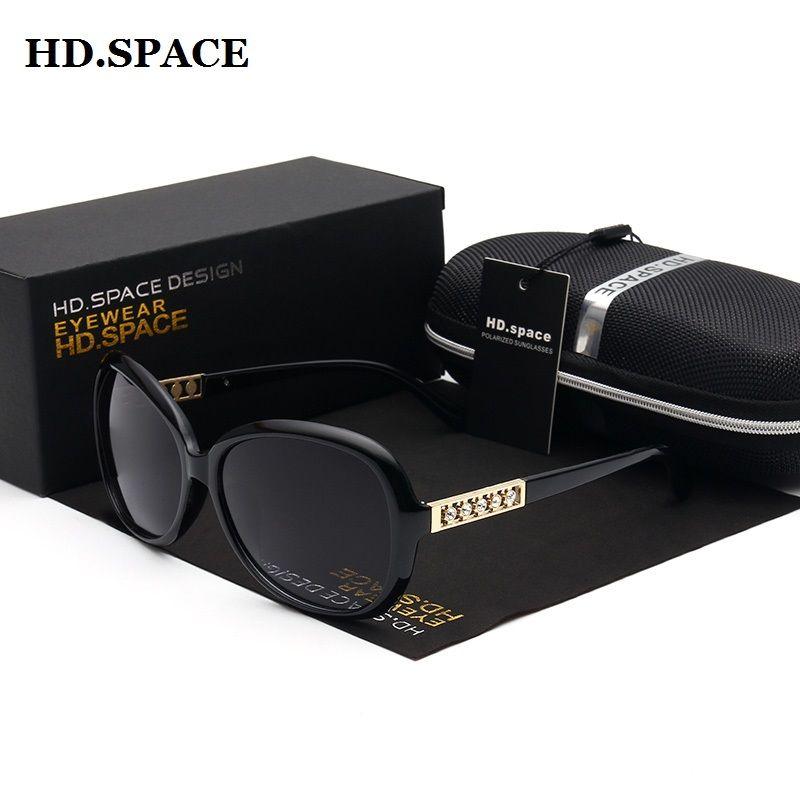 Prix de gros lunettes de soleil femmes surdimensionné vintage diamants femmes mode lunettes de soleil nouvelle marque polarisée lunettes de soleil femme
