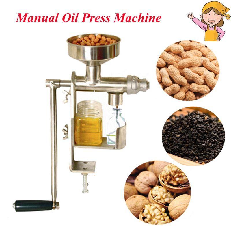 Househould Manuelle Öl Presser Erdnuss Nüsse Samen Ölpresse Maschine Leinsamen Expeller Öl Extractor HY-03