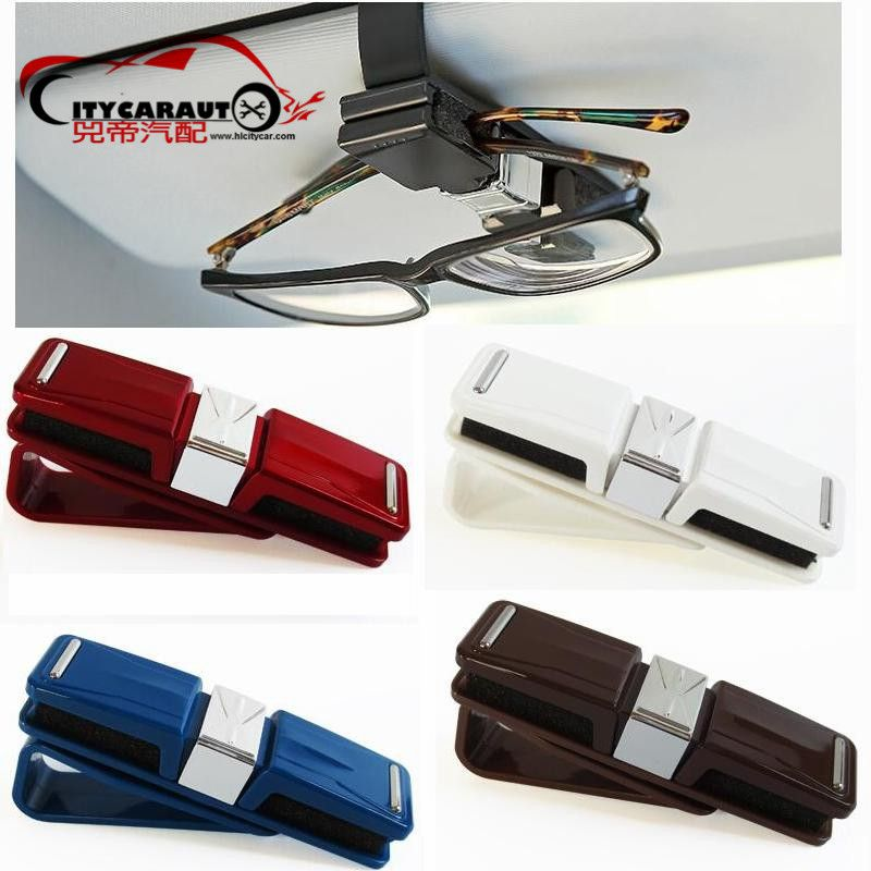 CITYCARAUTO auto Interior Accessories Car Sun Visor Glasses Sunglasses Ticket Receipt Card Clip Storage Holder Free shipping
