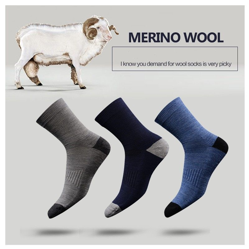 3 pairs Men and Woman Merino Wool socks Winter Warm thickening socks Best quality 3 pairs one lot wool from Australia