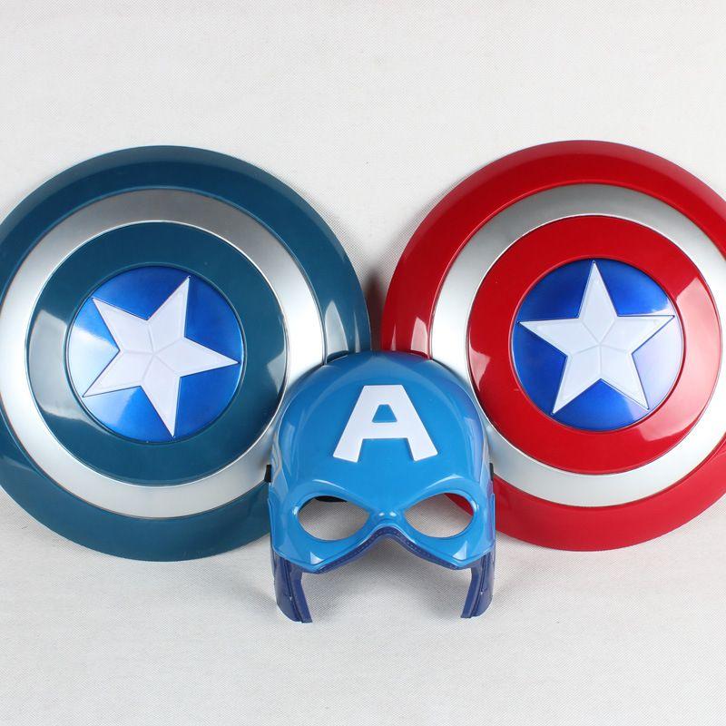 32 CM nouveau capitaine amérique Figure jouets lumineux bouleversé bouclier masque Cape Avengers Anime montrer accessoires enfants jouets cadeaux de vacances