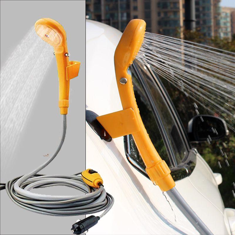 Car Washer portable Camping Shower set USB car shower DC 12V pump pressure shower Outdoor Travel Caravan Van for Pet water tank