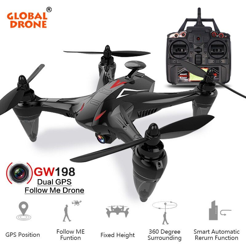 Global Drone RAY GW198 Professional GPS Brushless Drones Hover Quadcopter Auto Follow GPS Drone with 4K Camera VS X8Pro X183