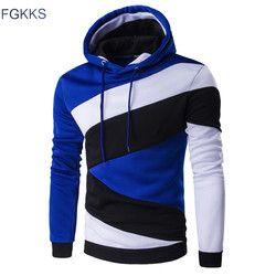 FGKKS Hoodies Men 2017 New Brand Male Long Sleeve Hoodie Print Striped Sweatshirt Mens Moletom Masculino Hoodies Slim Tracksuit