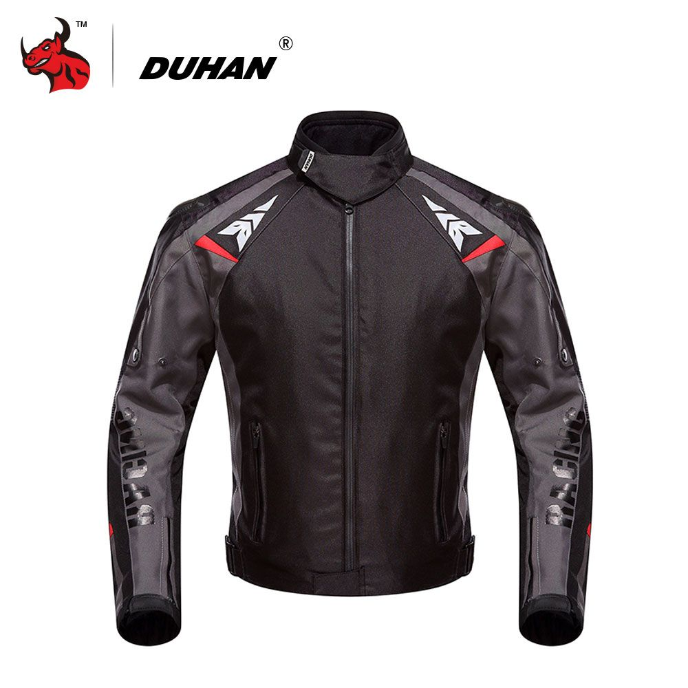 DUHAN Men's Oxford Waterproof Motorcycle Racing Jacket Professional Mesh Breathable Motorcycle Race Automobile Motorcycle Jacket