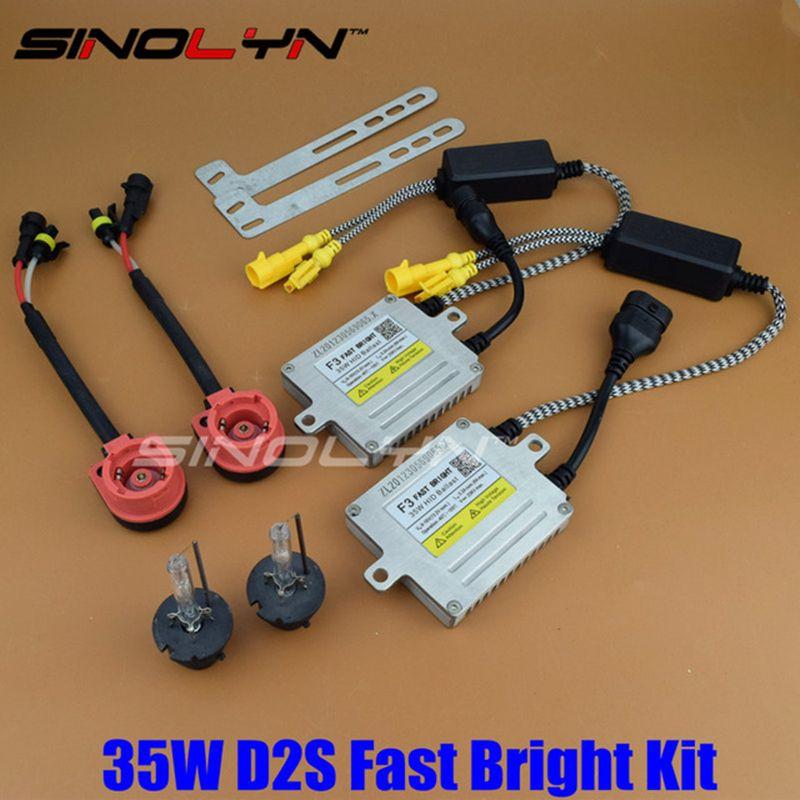 Upgrade 35W AC F3 Fast Start Quick Bright HID Xenon Kit Digital Slim Ballast Reactor Block Ignition H1 H3 H7 H11 HB3 HB4 D2S D2H