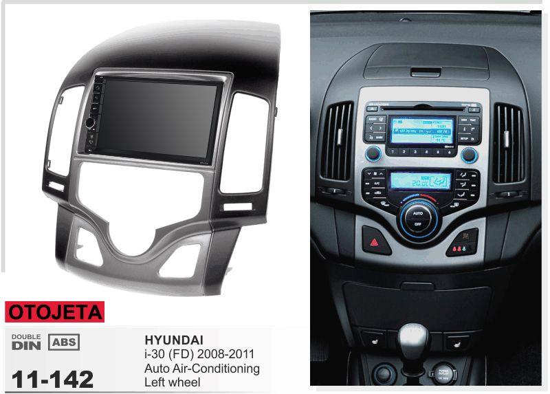 Navirider GPS Bluetooth stereo android 9.1 auto multimedia für Hyundai I30 Auto AC 2008-2011 Navigation auto radio + rahmen + kamera