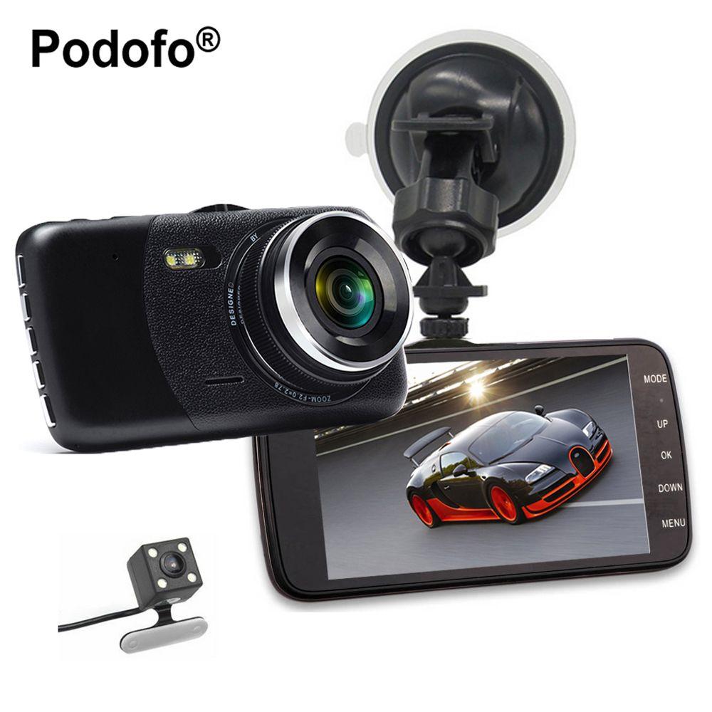 Podofo New Dual Lens Car DVR Cam Dashcam 4