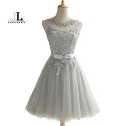 LOVONEY CH604 Kurze Prom Kleider 2019 Sexy Backless Lace Up Abendkleid Formale Kleid Frauen Anlässe Party Kleider Robe De soiree