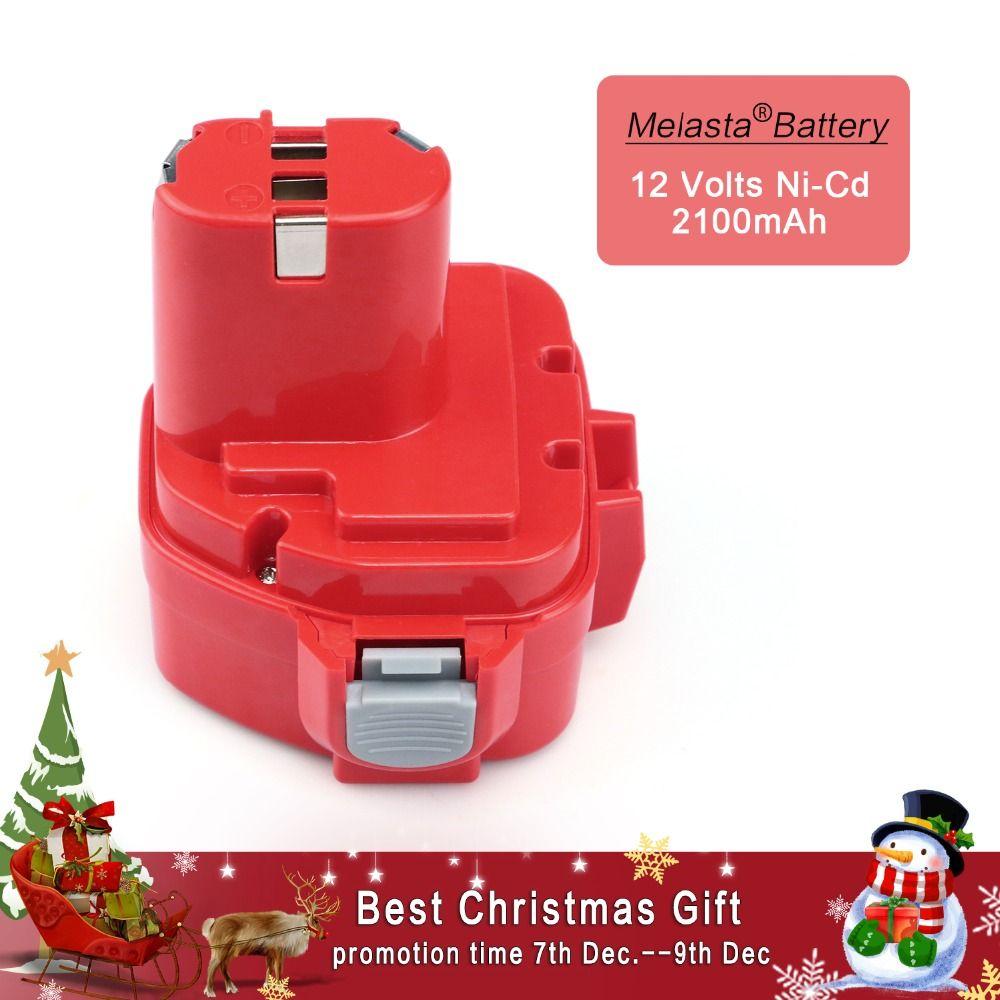 MELASTA 12v NiCd <font><b>2100mAh</b></font> Battery Replacement Battery for Makita 1220 PA12 1222 1233S 1233SA 1233SB 1235 1235A 1235B 192598-2