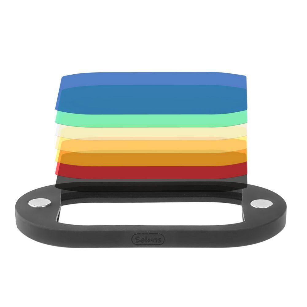 8 pièces Selens filtre à Gel Flash coloré pour appareil photo reflex numérique pour Canon Nikon Yongnuo Flash Speedlite pour Selens modificateur de Flash magnétique