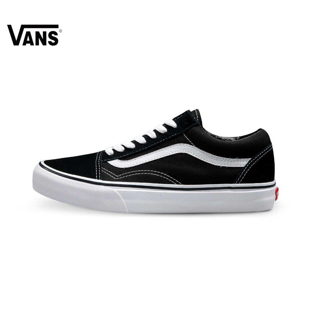 Original Vans Old Skool low-top CLASSICS Unisex MEN'S & WOWEN'S Skateboarding Shoes Sports canvas Shoes Sneakers