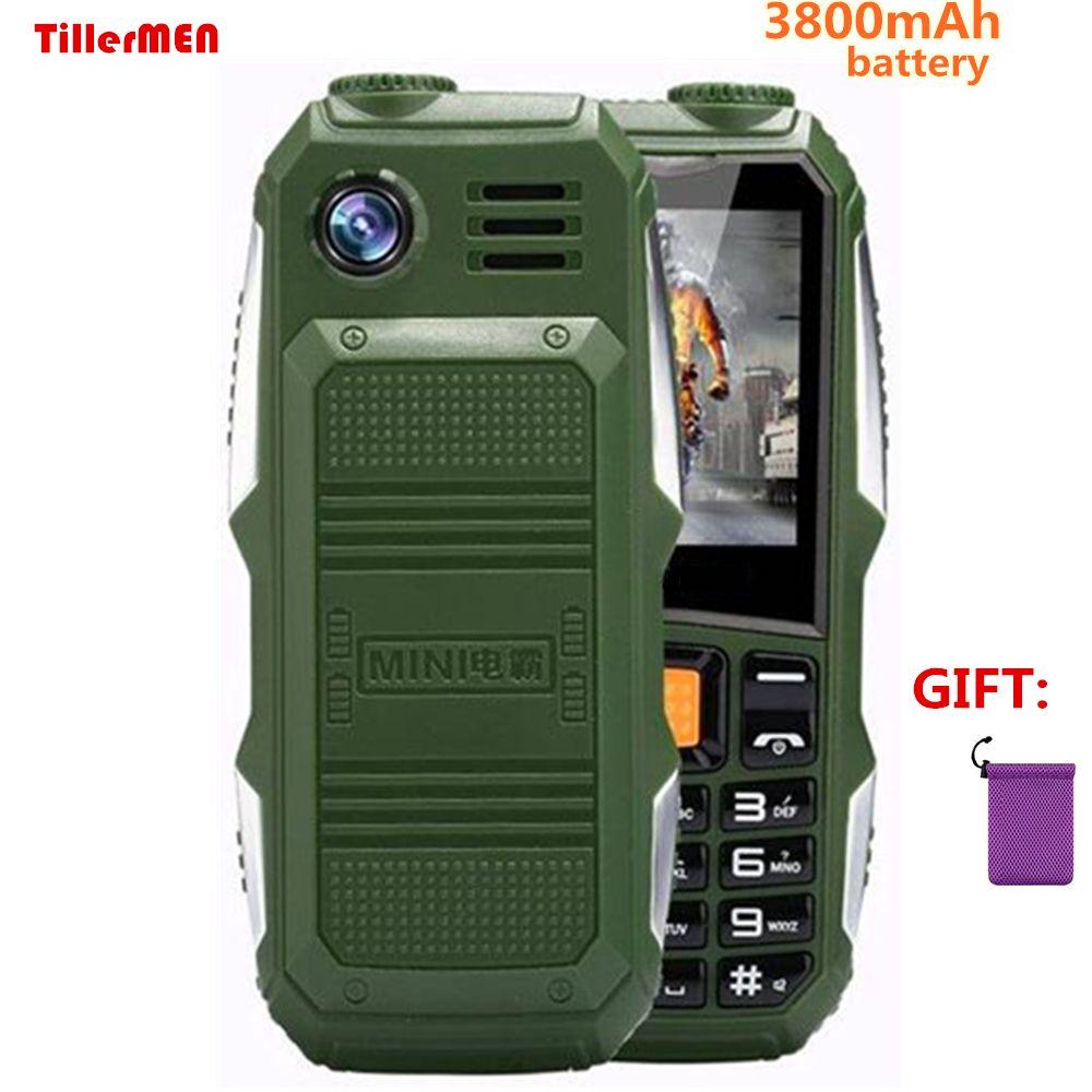 Big battery 3800mAh Phone Dual sim GSM dustproof shockproof cell Phone big torch Speaker Senior Elder mobile phone Russia SOS