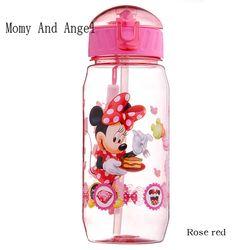 450 ml Disne Minnie/Mickey Mouse Enfants Potable Biberon De Paille Enfants Tasse Nourrir Les Enfants Bouteilles D'eau Tasses de Formation BE-015