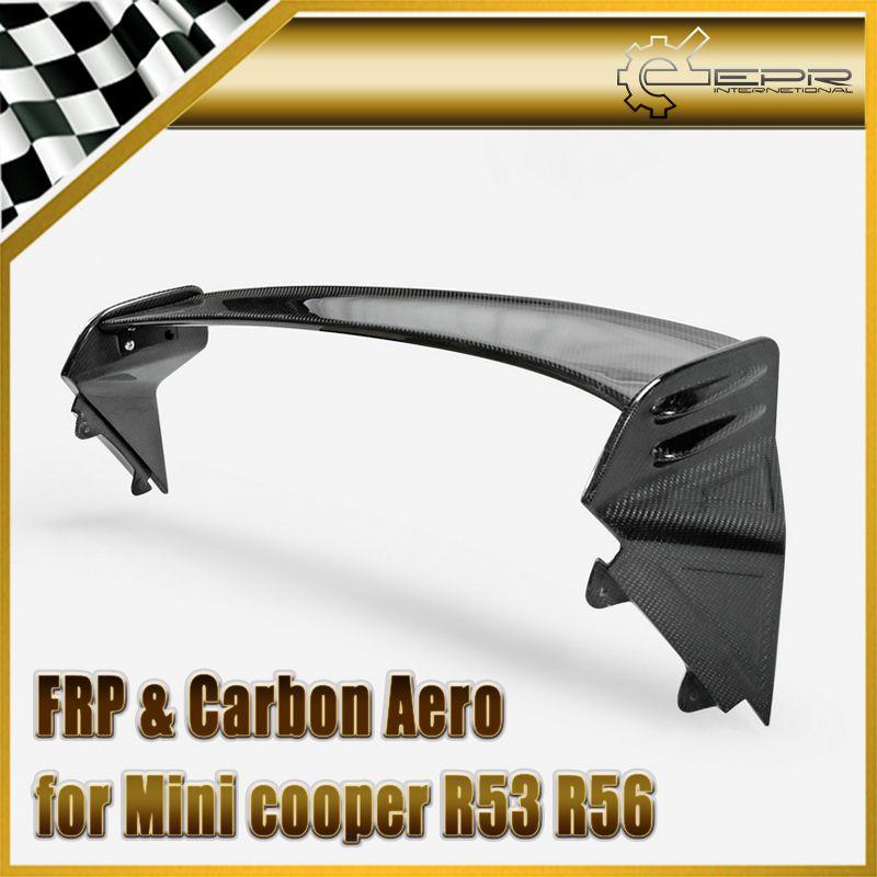 Auto-styling Kohlefaser JCW Dachspoiler Glänzend Fibre Heckflügel Body Kit Zubehör Trim Für Mini Cooper R53 R56 Ver.2.11/2,12