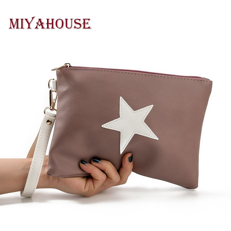 Miyahouse Star Design Envelope Ladies Evening Party Bag Brand Designer Women Day Clutches Bag Soft Leather Handbags High Quality