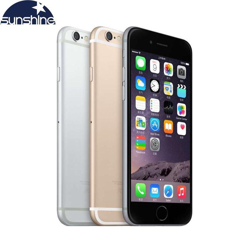 Téléphones portables d'origine Apple iPhone 6 LTE 4G débloqués 1GB RAM 16/64/128GB iOS 4.7 '8.0MP téléphone portable WIFI GPS double coeur