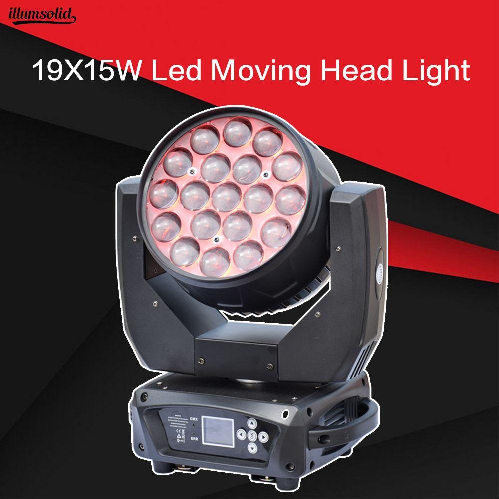19X15 W LED zoom moving head licht RGBW Waschen Effcect Licht für Dj ausrüstung