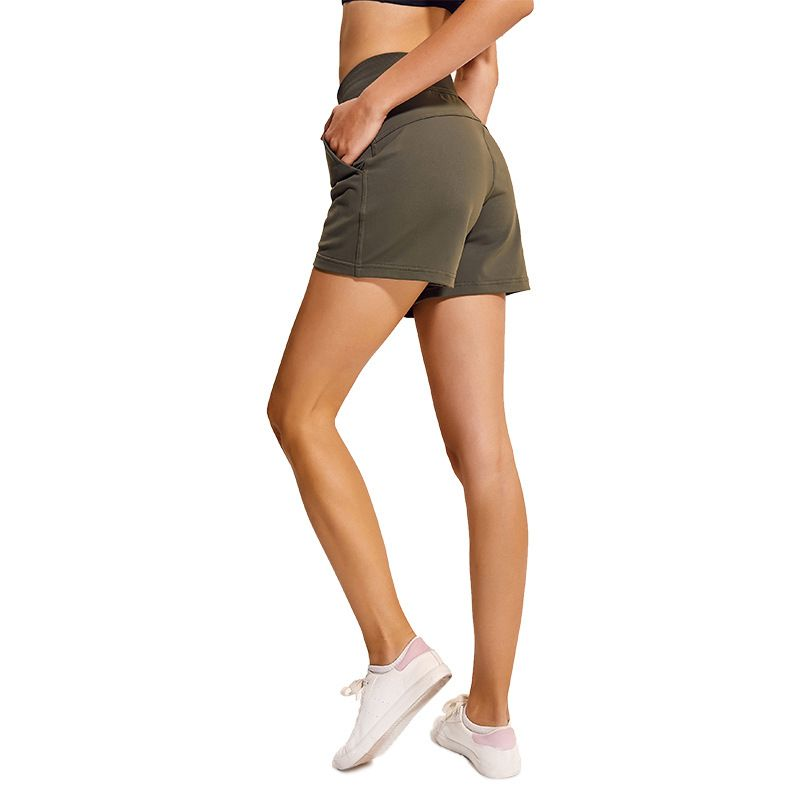 NWT 2019 Short de sport de poche de course à pied contrôle du ventre entraînement course athlétique Short de Yoga Non transparent livraison gratuite