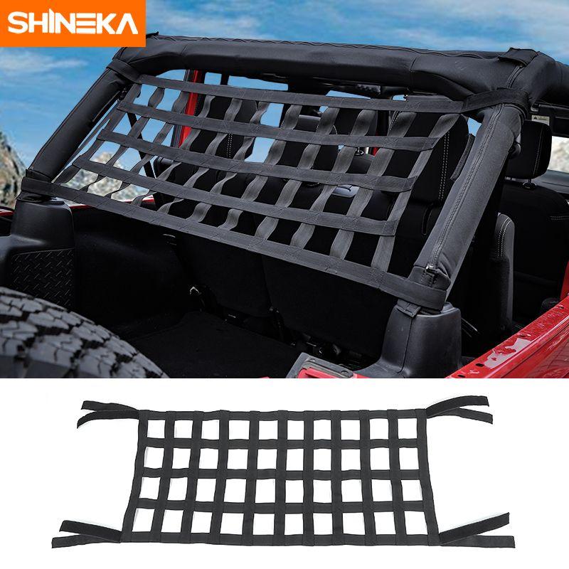 SHINEKA Top Roof Hammock Waterproof Cover Rest Storage Network For Jeep Wrangler TJ JK JKU JL 1997-2019 Exterior Accessories