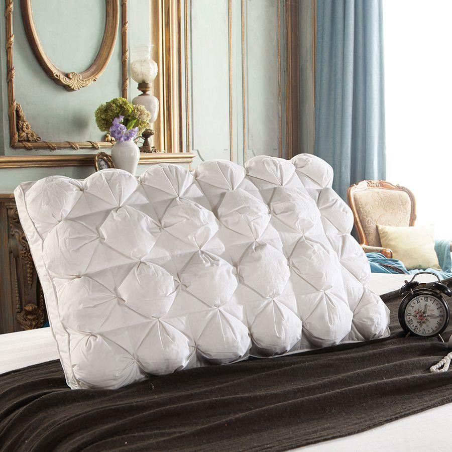 Peter Khanun 48*74 cm De Luxe 3D Style Rectangle Blanc D'oie/Canard Plume Vers Le Bas Oreillers Vers Le Bas-preuve 100% Coton Literie Oreiller 063
