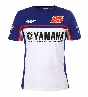 2017 new motorcycle motogp 100% cotton summer casual T-shirt short sleeve Fit For Yamaha motogp 25 MAVERICK VINALES T-shirt