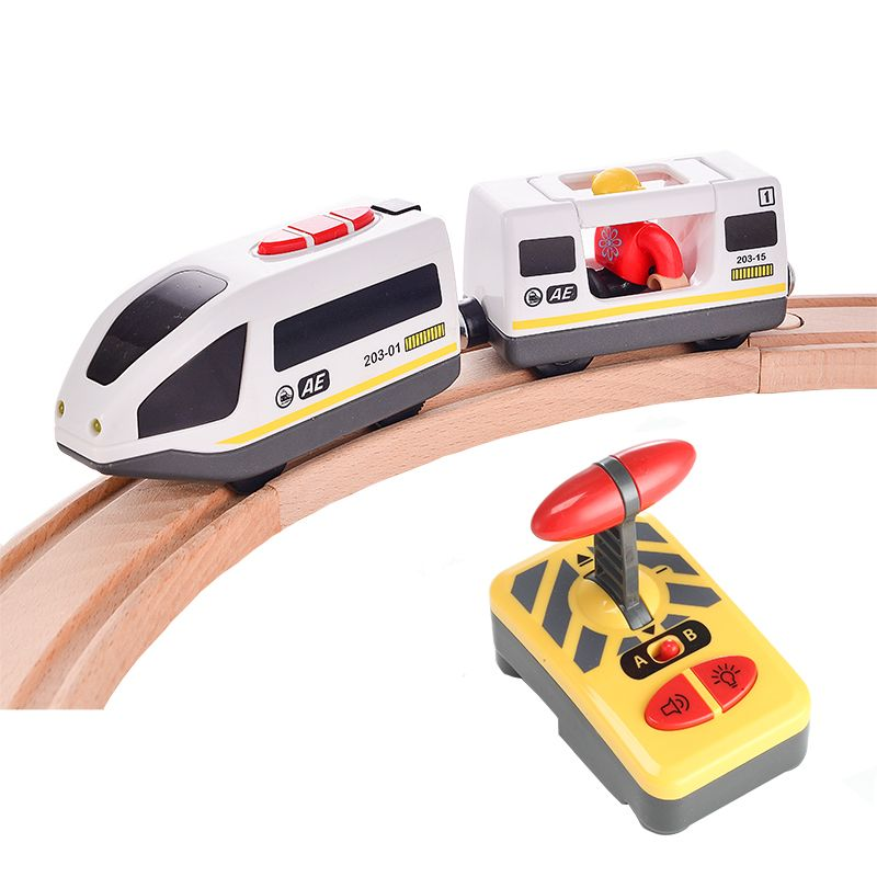 RC Electric Express Truck Magnetic Train With <font><b>Carriage</b></font> FIT Thomas wooden track Children Electric Toy Kids Toys