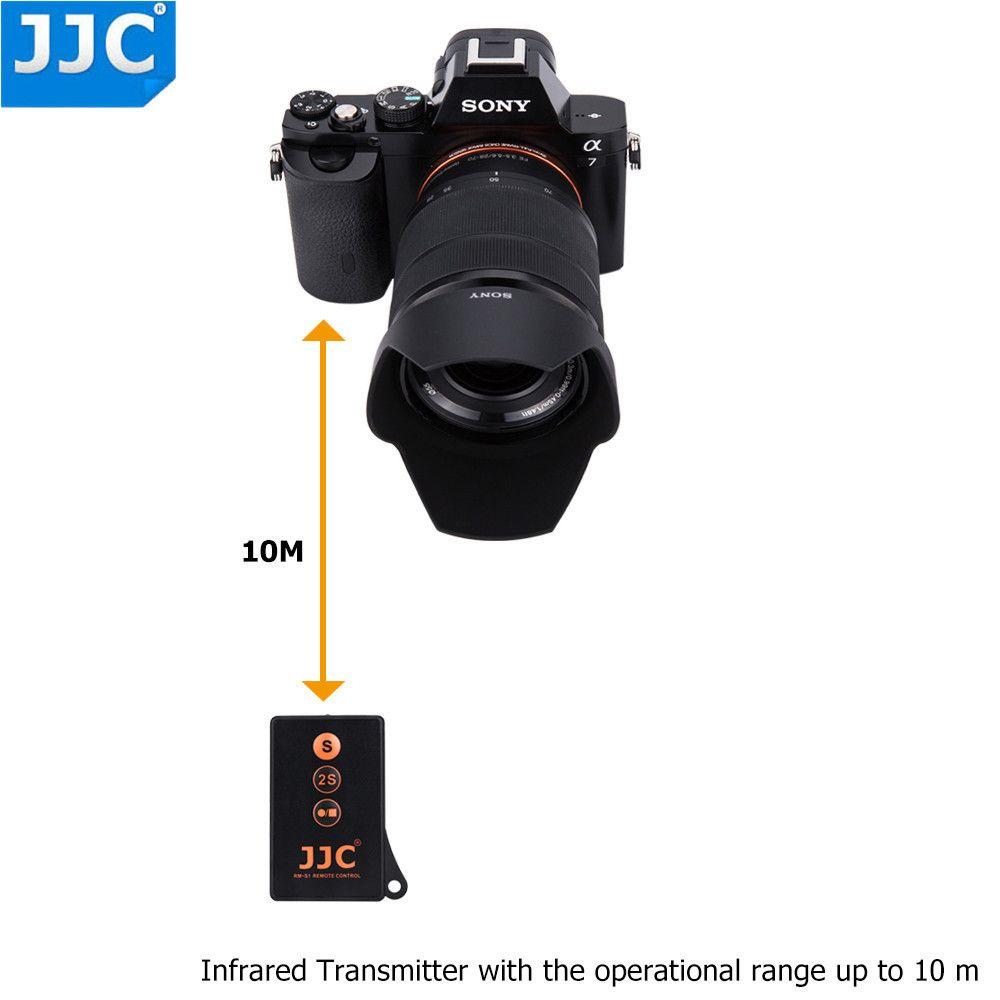 JJC Drahtlose IR Fernbedienung für SONY a7SIII a77II a7RIII A7R IV a7S a6300 a6000 NEX5N NEX6 NEX7 Ersetzen RMT-DSLR1 RMT-DSLR2
