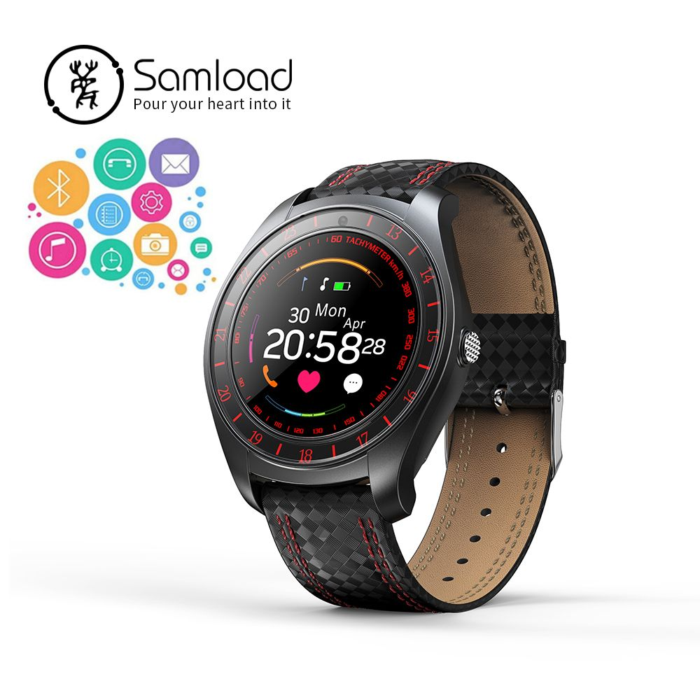 Samload Bluetooth 3 Smart Watchs Clock Round Touch Screen Band Fitness <font><b>Track</b></font> Camera Heart Rate For Xiaomi Samsung Huawei iPhone8