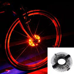 Leadbike Bicycle Wheel Light Bike Front/Tail Hub Light Led Spoke Warning Lamp Cycling Decoration Night Riding Bike Accessories