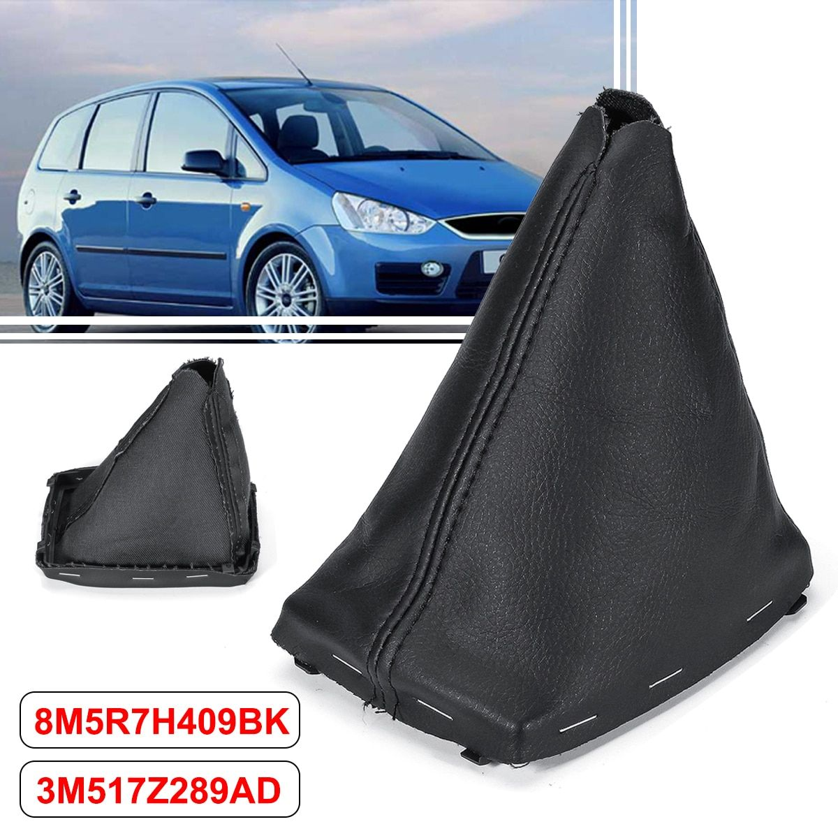 PU Leather Car Gear Shift Collars Gaiter Boot Cover For Ford/C-Max 2007-2010 /Focus/C-Max 2003-2007