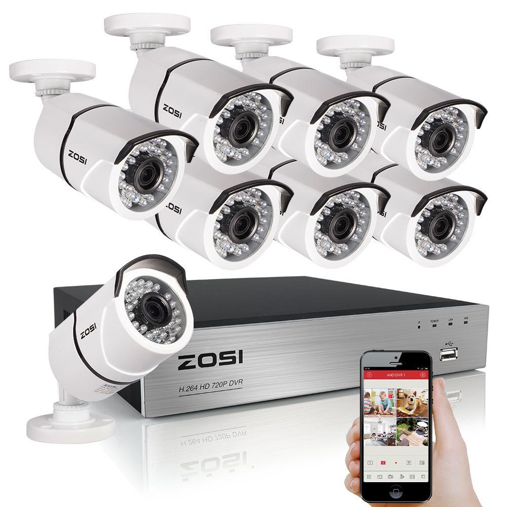 ZOSI 8CH CCTV System 1080 P HDMI TVI 8CH DVR 8 STÜCKE 2,0 MP IR Outdoor-überwachungskamera 3000TVL Kamera Überwachungssystem