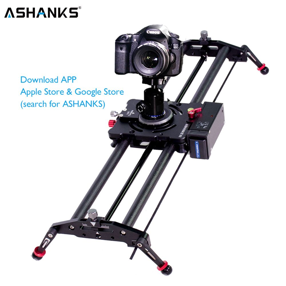 ASHANKS Bluetooth Carbon Camera Slide Follow Focus Motorized Electric Control Delay Slider Track Rail for Timelapse Photography