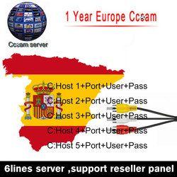 Europea DE IT ES canales DVB-S/S2 satélite Cccam líneas 1 año 6 líneas validez Clines newcamd USB WIFI receptor de TV por satélite