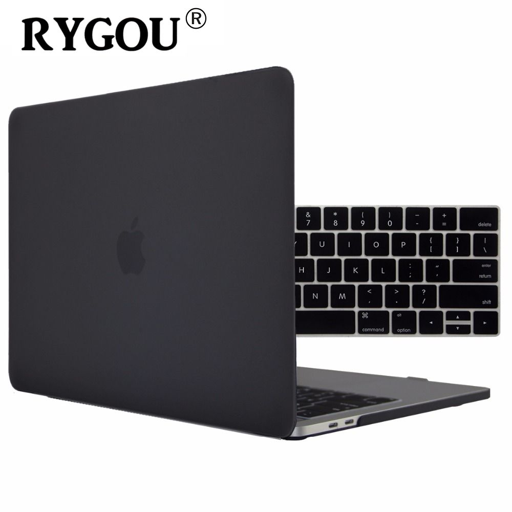RYGOU Matte Hard Cover Case for New MacBook Pro Retina 13 15 Case A1706 A1707 with Touch Bar OR A1708 w/out Touch Bar 2016 2017