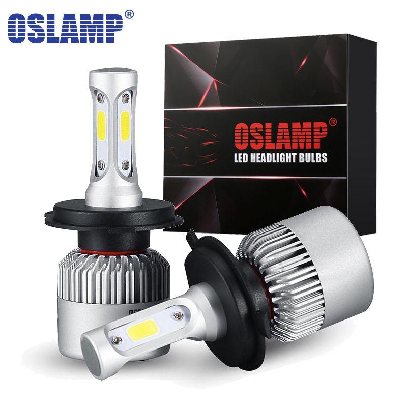 Oslamp LED Headlight Bulbs H4 Hi-Lo H7 H11 H1 H3 <font><b>9005</b></font> 9006 COB 72W 8000lm 6500K Auto Headlamp Car Led Fog Light Bulb 12v 24v