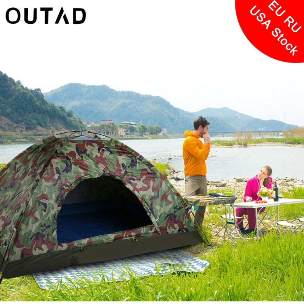 Outdoor Tragbare Single Layer Camping-zelt Wigwam Camouflage 2 Person Wasserdichte Leichte Strand Angeln Jagd Kostenloser Versand