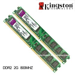 Kingston Original 2 GB RAM DDR2 4 GB = 2 piezas * 2G PC2-6400S DDR2 800 MHz 2 GB PC2-5300S 667 MHz Escritorio