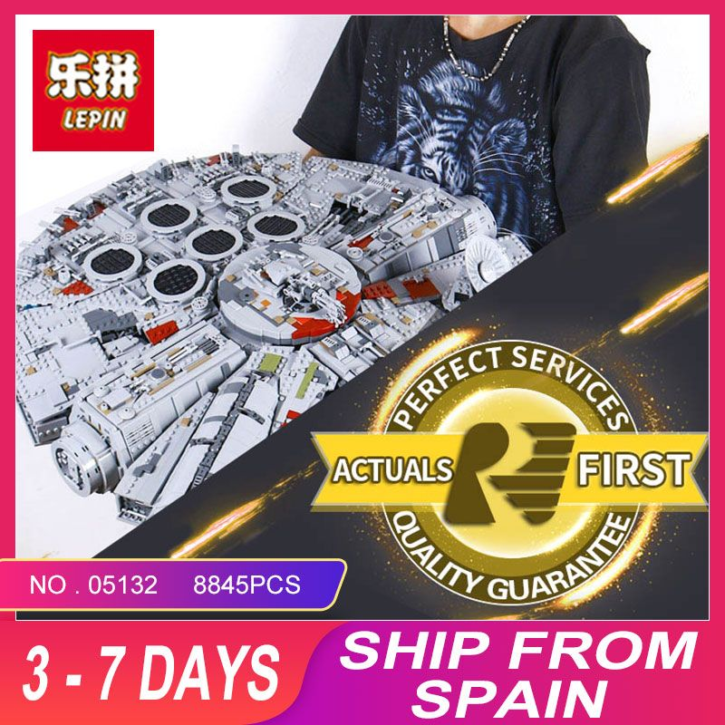 LEPIN 05132 New 8445Pcs STAR Ultimate Collector's Destroyer Series Building Blocks Bricks Children 75192 christmas gifts WARS
