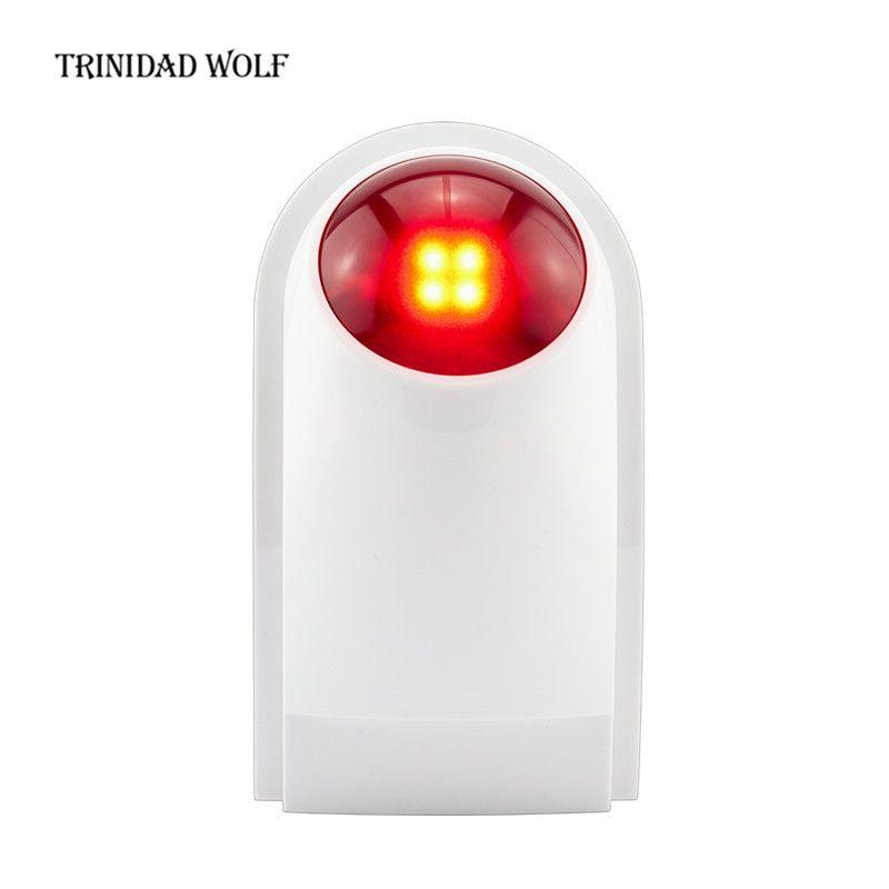 TRINIDAD WOLF Wireless Outdoor Siren Suit For Kerui Wifi GSM PSTN Alarm System Waterproof Siren Sound Strobe Flash Alarm Siren