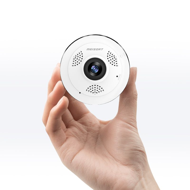 Meisort Wifi Mini IP Camera 360 Degree Home Security Wireless Panoramic Fisheye CCTV Camera 1.3MP 960P Video Security Camera